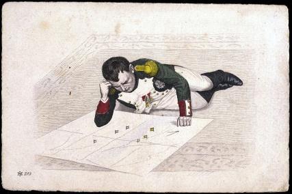 napoleon-plotting-strategy-with-map